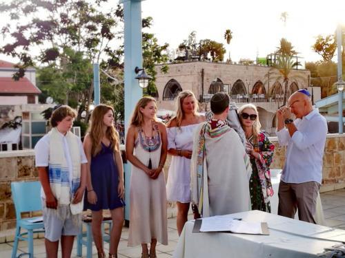 bar mizva at Jaffa